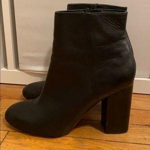 Aldo Black Leather Booties